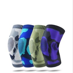 Exército Militares de alta qualidade OEM de desportos de almofada de joelho durável de Nylon respirável compressão de suporte do joelho o esteio de joelho