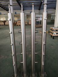 Fabricant de verre en acier inoxydable Balustrade/la main courante/rambarde avec collier de verre pour l'hôtel et centre commercial de la Chine usine du projet