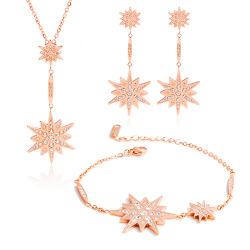316Lステンレス鋼の宝石類の星の水晶宝石類の一定の女性のネックレス