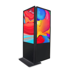 المصنع السعر 32 بوصة مركز تسوق LCD إعلان شاشة مزدوجة كشك شاشة اللمس