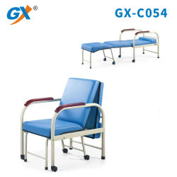 Hospital de bastidor de acero con acabado Power-Coating silla acompañan