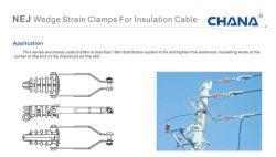 Nej cepa de la cuña de abrazaderas para cable de aislamiento