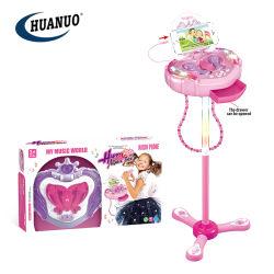 Les filles nouveau plastique rose Jouets musicaux ensemble microphone de karaoké avec MP3