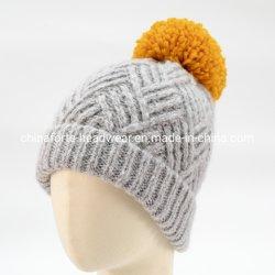 Câble de fantaisie la mode pour femmes Melange gris tricoté Hat