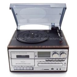 Venta caliente Audio Multi Retro gramófono tocadiscos tocadiscos con la codificación de cassette USB Bluetooth CD