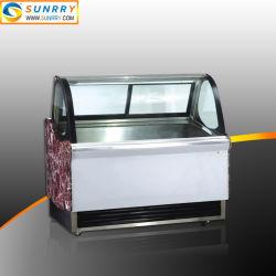 mostrador de exposición de Helado Gelato congelador con baja presión compresor hermético