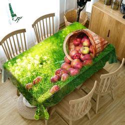 Impresos digitales al por mayor de frutas Manzana Uva de Mesa ropa de diseño de cubierta para el hogar