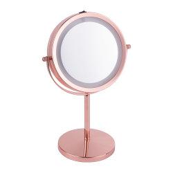 가장 인기 있는 양면 Magnifying Mirror LED 외관 테이블 메이크업 매우 밝은 빛이 있는 거울