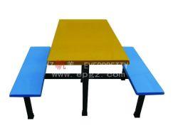 Table à manger de l'école en fibre de verre banc pour 4 personne, table à manger en fibre de verre banc (DT-10)