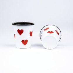 اليابان عروس عالة طباعة مينا معدن فولاذ تصميم قهوة خمس فنجان فولاذ يزوّج برميل دوّار لأنّ