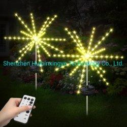 무료 배송! LED Solar Firwork Lights 아웃도어 방수 Meteor Tube Light Garden Lights for Christmas