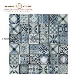 300x300мм 8 мм Фошань УФ печати Nartual Inkject стекла со смешанным использованием мозаики плитки деревенском плитки для монтажа на стену оформление