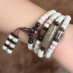 Gift, de Armband van de Parels van Boedha, Gelukkige Halsband, het Witte Koord van de Wortel van Bodhi van de Jade, de Gelukkige Parels van Boedha, Gelukkige Armband, Magisch Instrument, #101