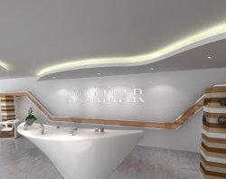 Diseño elegante de LED blanco de pura superficie sólida Recepción contador