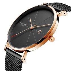 Stock listo minimalista de la moda Unisex reloj