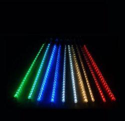 Indicatore luminoso impermeabile della stringa di natale dei tubi LED della meteora per la decorazione del giardino della festa nuziale