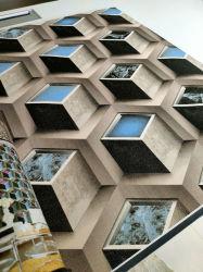 3D praça moderna parede de PVC Art papel para o hotel e Studio padrão quadrado de papel de parede decorativos