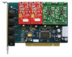 4 FXO/FXS لعلامة النجمة الرقمية PBX TrixBox (TDM400P)