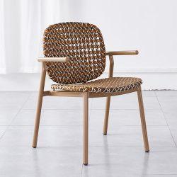 Muebles de Exterior resistentes a UV Playa Tumbona ratán sillón de aluminio Home