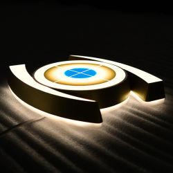 مخصص ثلاثي الأبعاد مضاء في الهواء الطلق متجر أكريليك المعدن النيون القطع القابل للتغيير خطاب قناة الخروج يشير إلى أعمال متجر البيع بالتجزئة مع الأضواء