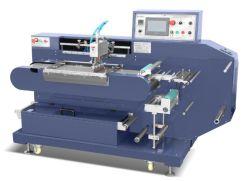 Kleinere Größen-automatischer 1 Farben-Satin-Farbband-Silk Bildschirm-Kennsatz-Drucken-Maschinen-Preis/Kleid-Sorgfalt-Kennsatz-Bildschirm-Drucker-Presse (JDZ-2001)