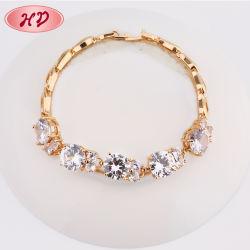 원석을%s 가진 형식 14K 18K 로즈 금 다이아몬드 팔찌 보석