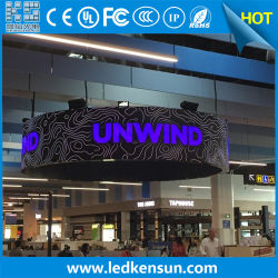 Flughafen gebogene Rundschreiben LED-Bildschirmanzeige der Spalte-P2.5 flexible