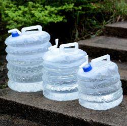 Piscina 5L carro balde de água Telescópico plástico dobra da Caçamba Saco de água com toque PE Saco potável equipamento de campismo