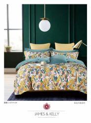 中国のホーム織物のSize Bedding Sheet Pillowcases 100%年の綿の羽毛布団カバー一定の完全な王