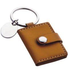 Bolsa de couro Chaveiro Cartão Fotográfico caso