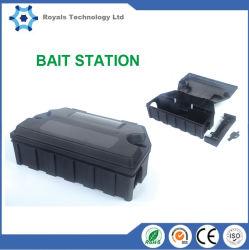 Ratón de la estación de cebo de rata el Control de Roedores deshacerse de los Ratones de plástico negro de la trampa de la Rata