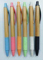 Bambusballpoint-Feder mit Gummiende mit Firmenzeichen-Drucken aufbereiten