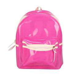 2020の方法フラッシュ女性袋防水カラーライト袋の透過バックパックの音節浜プラスチックLEDの軽いゼリーのバックパック