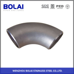 明るいステンレス鋼の管付属品45のDegの溶接の肘