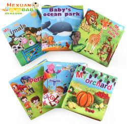 Cochecito de bebé juguetes de tela suave sonajero de animales libros Libro de los tejidos de animales de Estimulación Temprana para Bebés juguetes educativos para niños