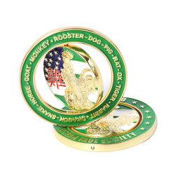 Diseño personalizado Metal Soft enamel Insignia Insignia de solapa con el embrague de la mariposa