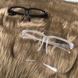 Blocco per grafici protettivo della visiera di vetro di protezione della visiera della fabbrica dell'anti occhio all'ingrosso diretto libero dello spruzzo