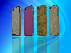 Leather Premium Exterior Caso per Apple 4G/4S