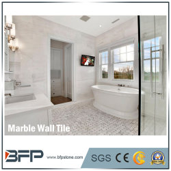 1cm épais Carrara en marbre blanc de brique de l'intérieur carrelage mural décoratif