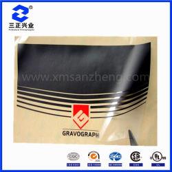 Design personalizado claro PVC translúcido pegajoso marca resistente a riscos de etiquetas