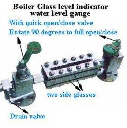 Viertel von Opening und von Closing Valve Boiler Glass Level Gauge