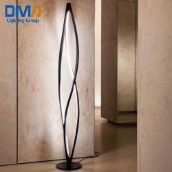 現代デザインヨーロッパ様式のベッドLEDランプの白くか黒い終了する72W LEDの床ランプ