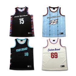 Custom maillage uniforme de basket-ball de haute qualité à bas prix patch broderie Wholesale Youth Basketball Jersey