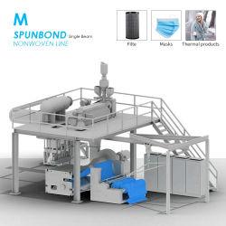 Goede Kwaliteit 2400mm van de hoge Capaciteit de Geblazen Niet-geweven Stof die van pp Smelting Machine voor Machines van het Masker van het Gezicht de Materiële Textiel maken