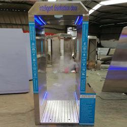 Entièrement automatique intelligent Thermomètre d'autorisation de désinfection ultraviolet porte avec système de reconnaissance de visage