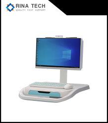 移動式ABSプラスチック病院の医学のカートのコンピュータのAioのパソコン