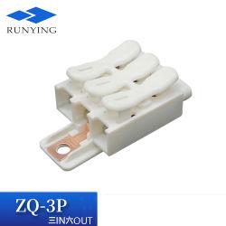 3핀 누름 버튼 접지 와이어 커넥터 내화성 PP 플라스틱 빠른 연결 접지 와이어 단자