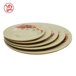 Grau superior durável brilhante exterior Housewares Melamina Placa Dinnerware