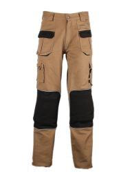 Pantaloni 100% del carico della zona del ginocchio della tela di canapa del cotone del certificato del Ce