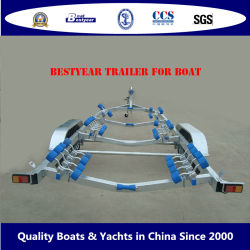 Aço Galvanizado Bestyear Trailer de barco ou Twin único eixo triplo com ou sem material de aço ou alumínio de travão